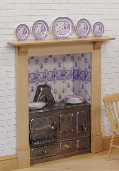 Detail from the kitchen range for the blue willow project