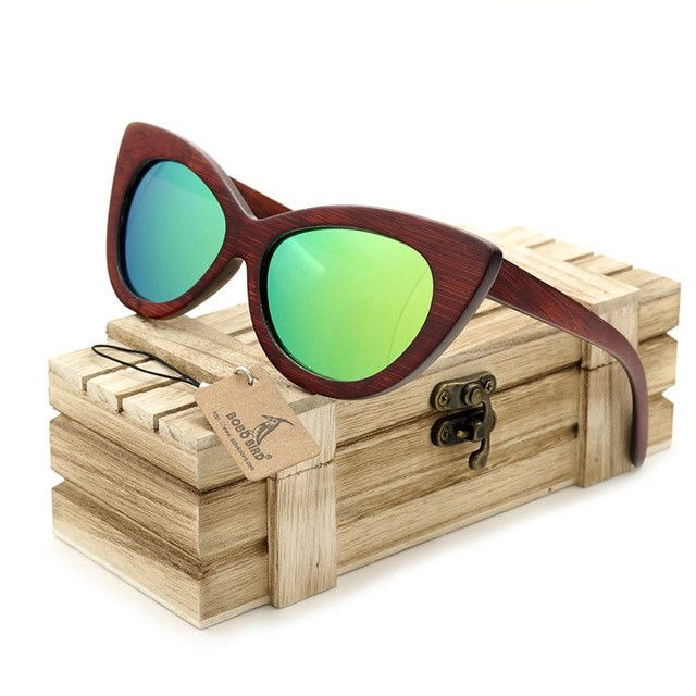 BOBO BIRD Top Brand Design Rosewood Polarized Beach Sunglasses Women Men Handmade 2017 Sun Glasses oculos de sol masculino
