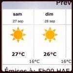 Votre météo incroyable du week-end! Enjoy! #montreal #quebec #meteo #weather #soleil #sun #chaleur #étédesindiens