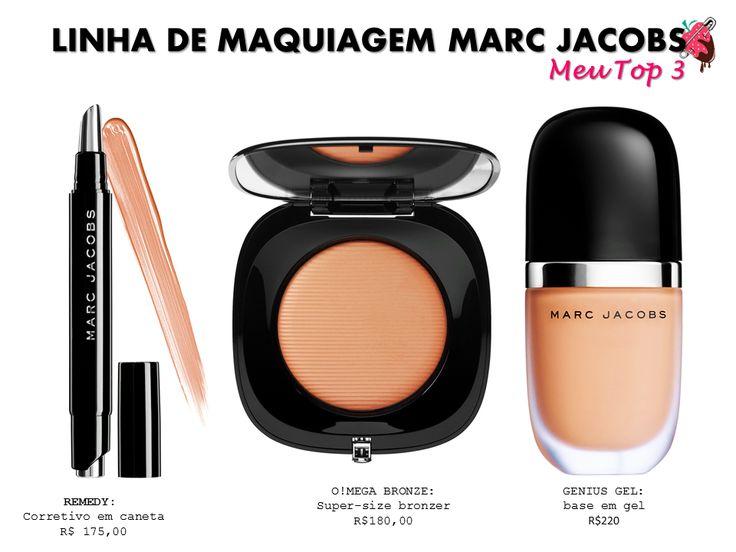 Detalhes coleção de maquiagem (de babar) de Marc Jacobs.