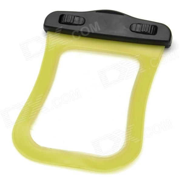 Model: ABS155-105; Quantity: 1 Piece; Color: Yellow; Material: PVC + ABS; Compatible Models: Ipod Touch; Other Features: Waterproof dust-proof sand-proof; 10m depth waterproof great for diving yachting skiing etc; Waterproof level: IPX8; Packing List: 1 x Waterproof pouch; 1 x Strap (43cm); http://j.mp/1toLIXM