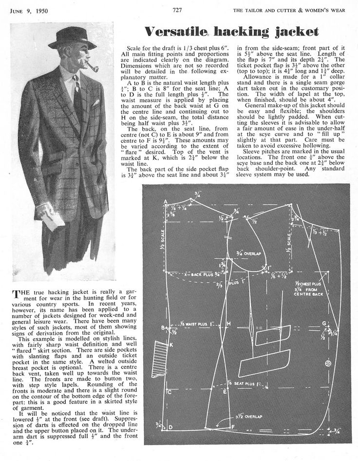 A Fashionable Hacking Jacket - The Coatmaker's Forum - The Cutter and Tailor