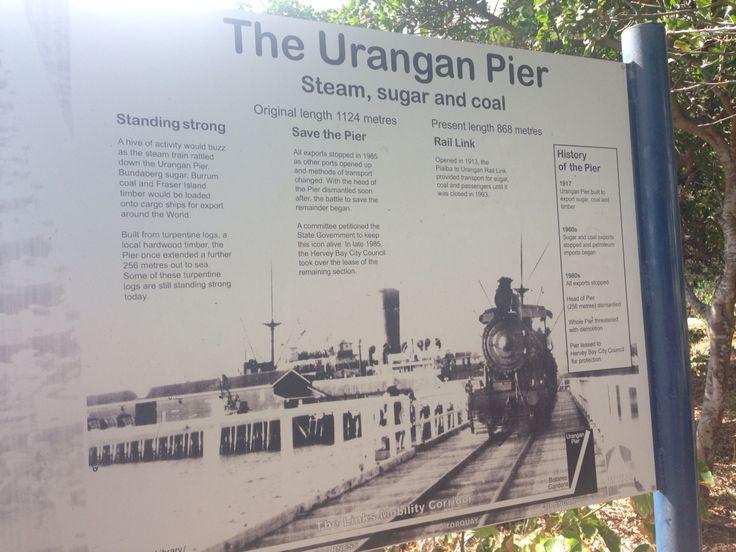 The Urangan Pier. 868 metres long