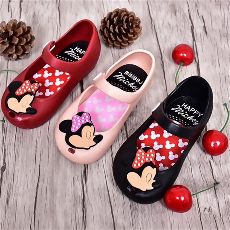hot sale mini melissa children sandals 2017 summer girls boys cute jelly shoes kids mickey Minnie baby shoes For Girls 13-17CM