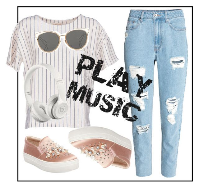 """❤Play Music Teenager Outfit❤"" by puddingis ❤ liked on Polyvore featuring interior, interiors, interior design, home, home decor, interior decorating, BELLEROSE, Christian Dior, Steve Madden and Beats by Dr. Dre"