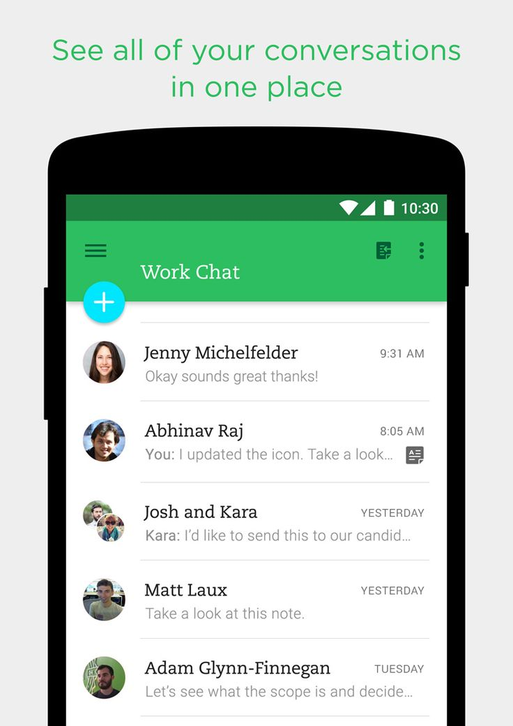 Work chat home android
