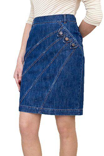 60bab52ac5 Souvenir-Fashion New Ladies Casual Boutique Knee Length Pencil Blue Denim  Skirt UK 8 10 12 14 16 18 20 22 (8)