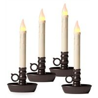 """Plough and Hearth flameless window candles, set of four.  <field type=""""Product.ClassificationGroup.Collections.display_name"""" />"""