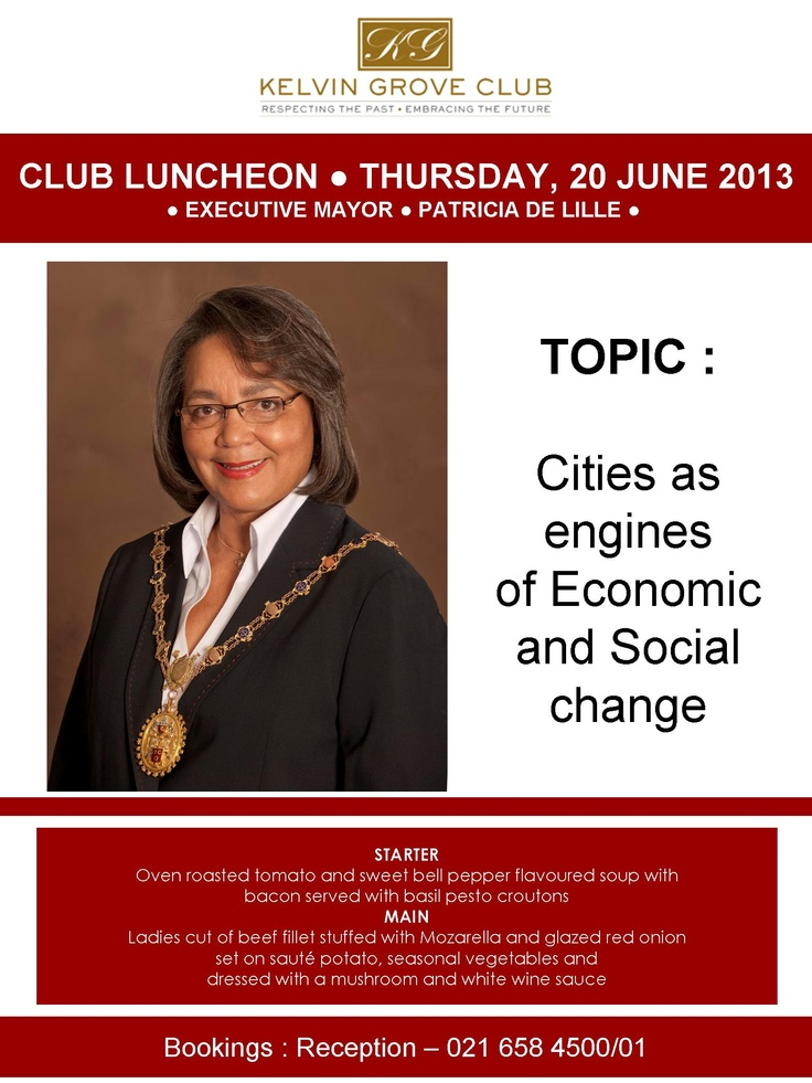 KG Club Luncheon | 20 June 2013 Book at Reception