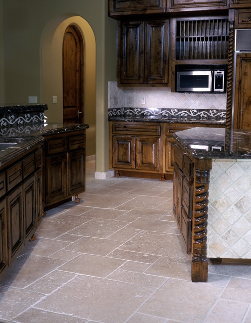 natural wood and all natural authentic durango stone what a combo give us a ring at to get your kitchen tile today