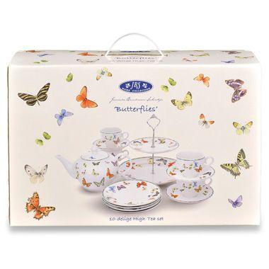 Janneke Brinkman Vlinder High tea serviesset - 10-delig | Blokker