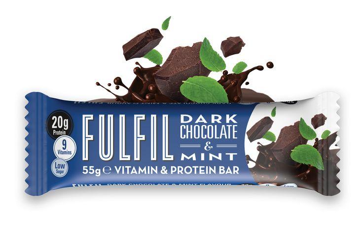 Egy igazi finomság! FulFil Étcsokis Protein szelet Mentával!