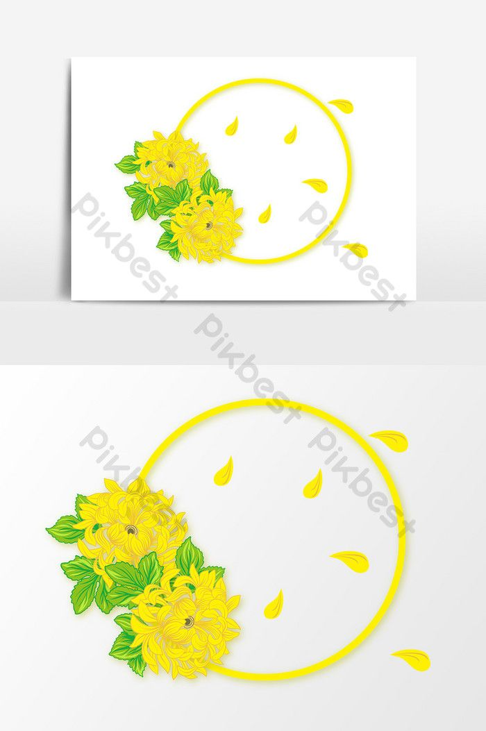 Sunflower Yellow Sunflowers Cartoon Hand Painted Flowers Cartoon