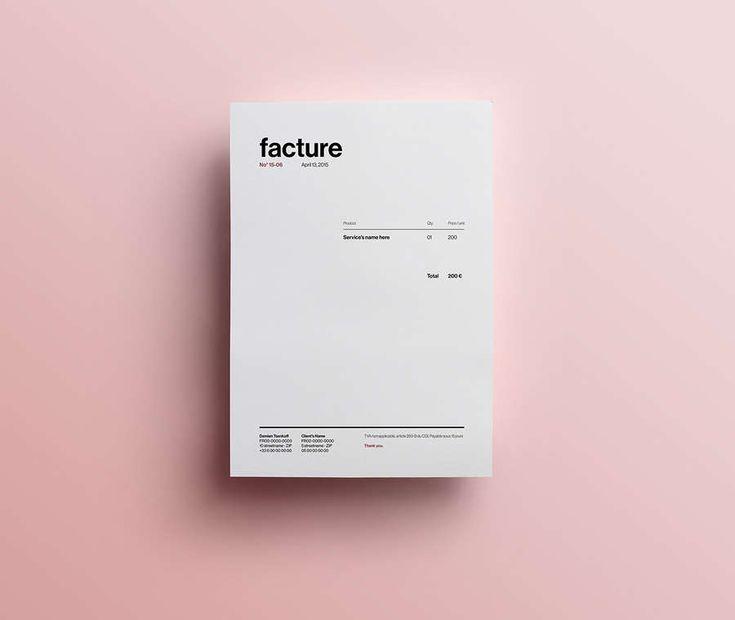 Diseños de facturas creativas | Identity
