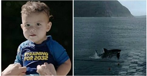 Michael Phelps' son Boomer steals show in Huggies ad, but dad's shark race is called 'biggest scam of 2017'