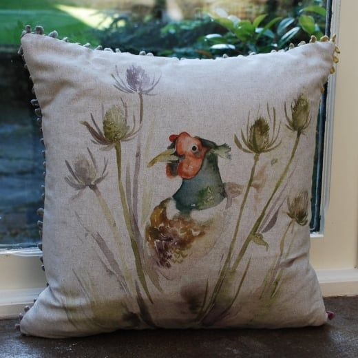 Voyage Maison Cushion | Hiding Pheasant Cushion | Wool Tweed Cushion