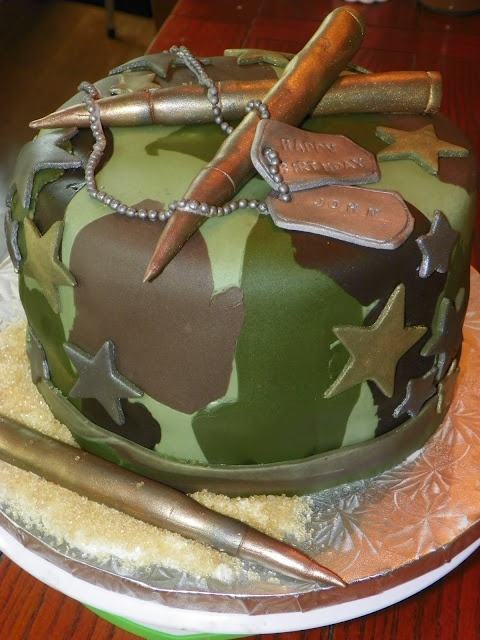 Army Birthday Cake - I think this is probably the coolest cake ever for this theme!