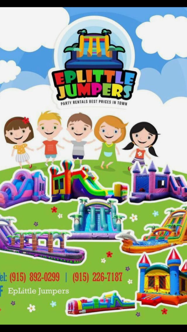Pin by EpLittle Jumpers Party Rentals on Flyers