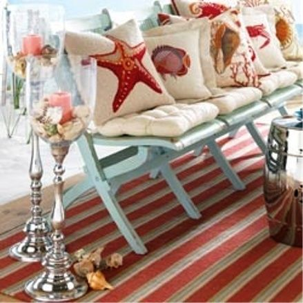 beach theme w/ coral & aqua blue -- ciao! newport beach: decorating with sea shells