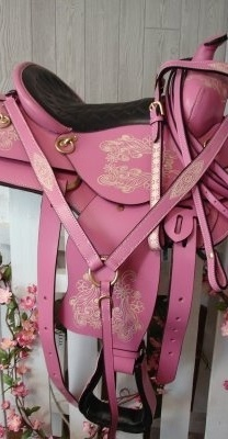 I want a horse and a pink saddle