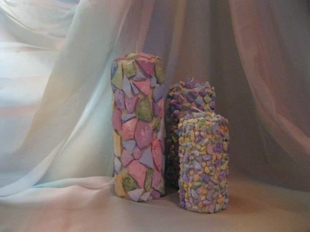 """Комплект свечей """"Сиреневая дымка"""" - Ярмарка Мастеров - ручная работа, handmade"""