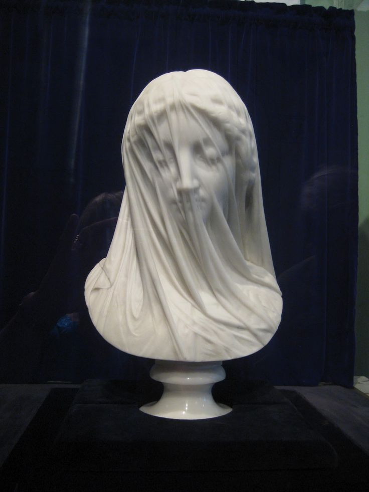 The Veiled Virgin By Giovanni Strazza Esculturas