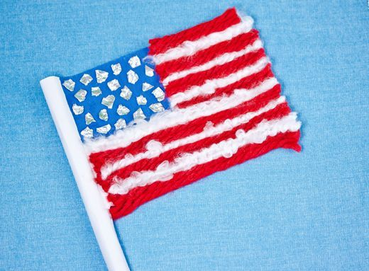 Make this fun Red, White, and Blue Flag to show your patriotic spirit!