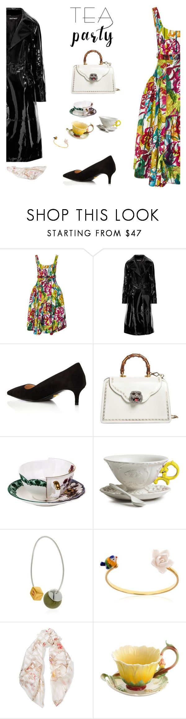 """Afternoon Tea"" by sue-mes ❤ liked on Polyvore featuring Jonathan Cohen, Tom Ford, Prada, Gucci, Seletti, URiBE, Nach, Fendi and Franz"