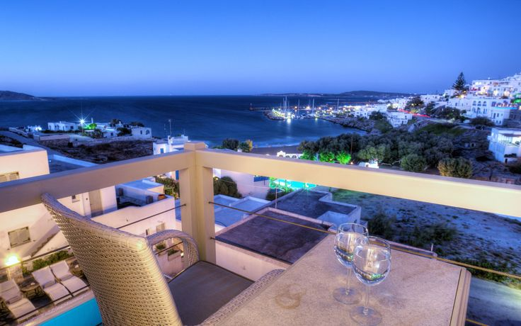 The view from a verranda of Paliomylos Hotel, in #Naoussa_of_Paros.