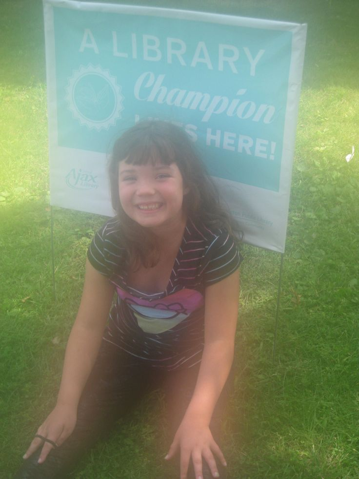 Congratulations on becoming a Library Champion, Selina!  We love your photo, and think you're doing such a great job - keep up the great work!