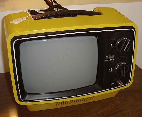Black and White portable tv