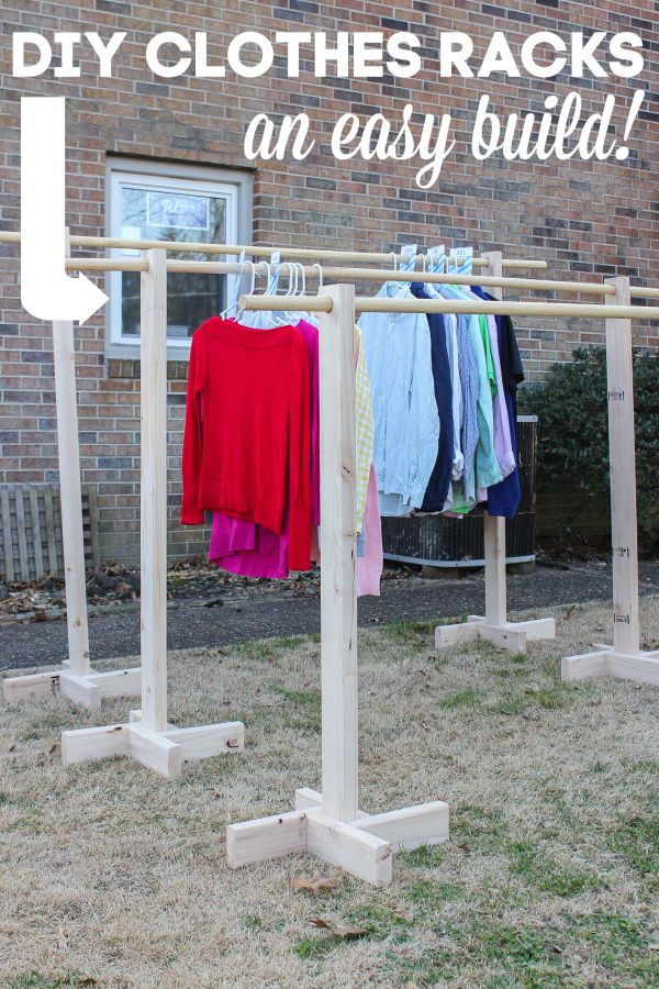 Diy Clothes Rack For Garage Sales And Yard Sales Yard Sale Clothes Rack Diy Clothes Rack Clothing Rack