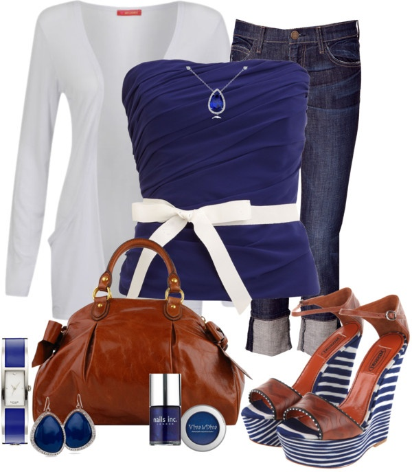 """""""Pretty in Navy"""" by mssgibbs on Polyvore... Total Summer Outfit"""