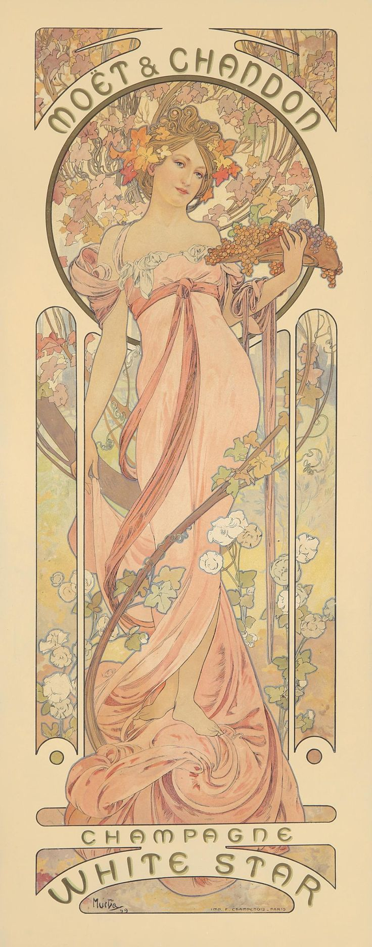 Moët & Chandon / Champagne White Star. 1899. in 2019 Art