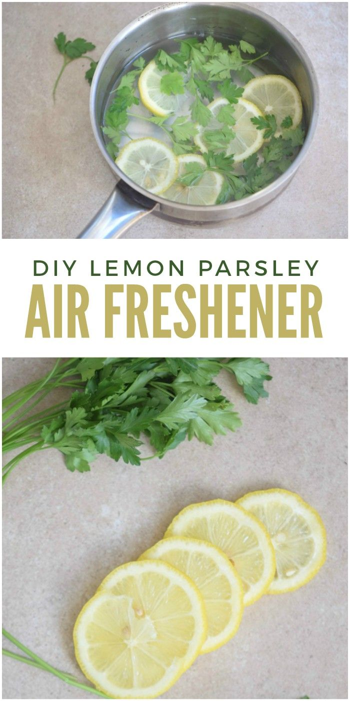 This Parsley Lemon DIY Air Freshener is the single best way to get rid of kitchen smells in a natural and safe way.