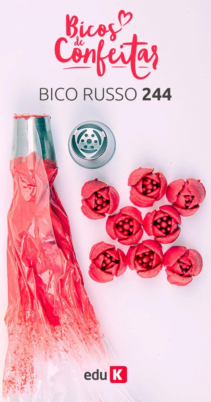 Clique na imagem e aprenda a fazer muitos doces deliciosos com decoração em bicos de confeitar :)
