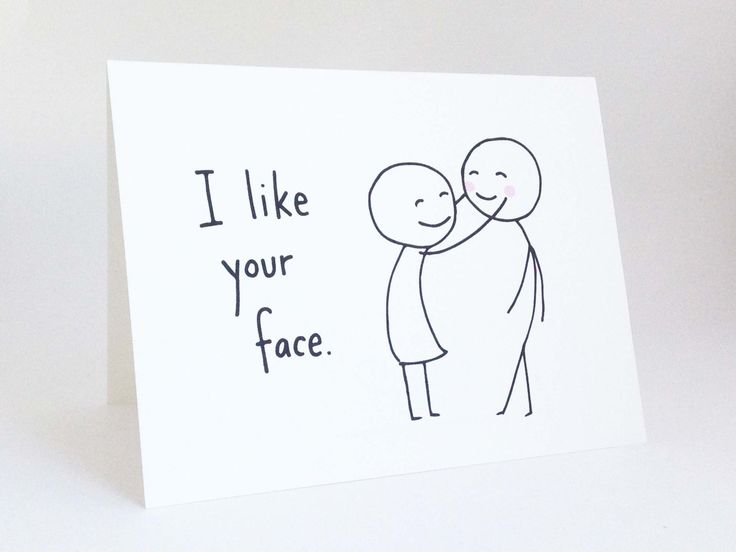 Cute Love Card for Boyfriend // Anniversary Card for Husband // Romantic Birthday Card // Funny Valentines Day Card // I Like Your Face by EuclidStreetShop on Etsy https://www.etsy.com/listing/175408744/cute-love-card-for-boyfriend-anniversary