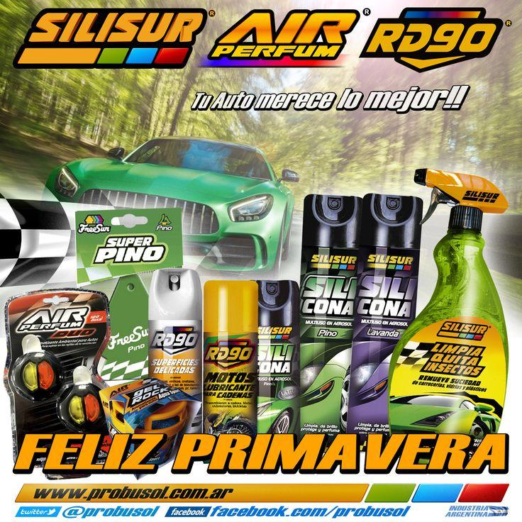 #FelizPrimavera #FelizDiaDeLaPrimavera #BuenJueves les deseamos >>SILISUR-AIR PERFUM-RD90 Tu Auto merece lo mejor!!