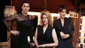 (L-R) ABC journalists Virginia Trioli, Leigh Sales, Emma Alberici