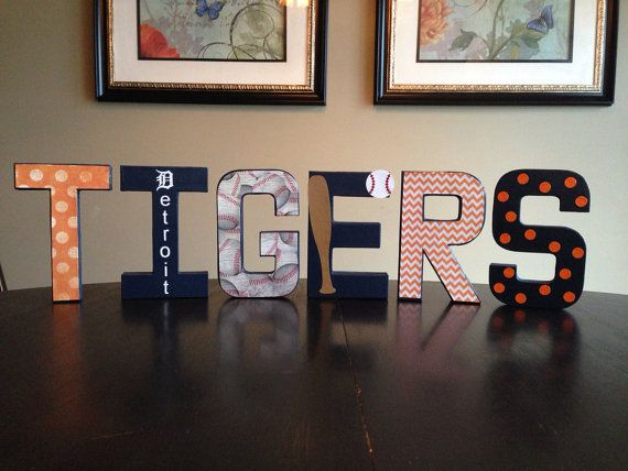 Detroit Tigers Decorative Letters by GMHomeDecor on Etsy