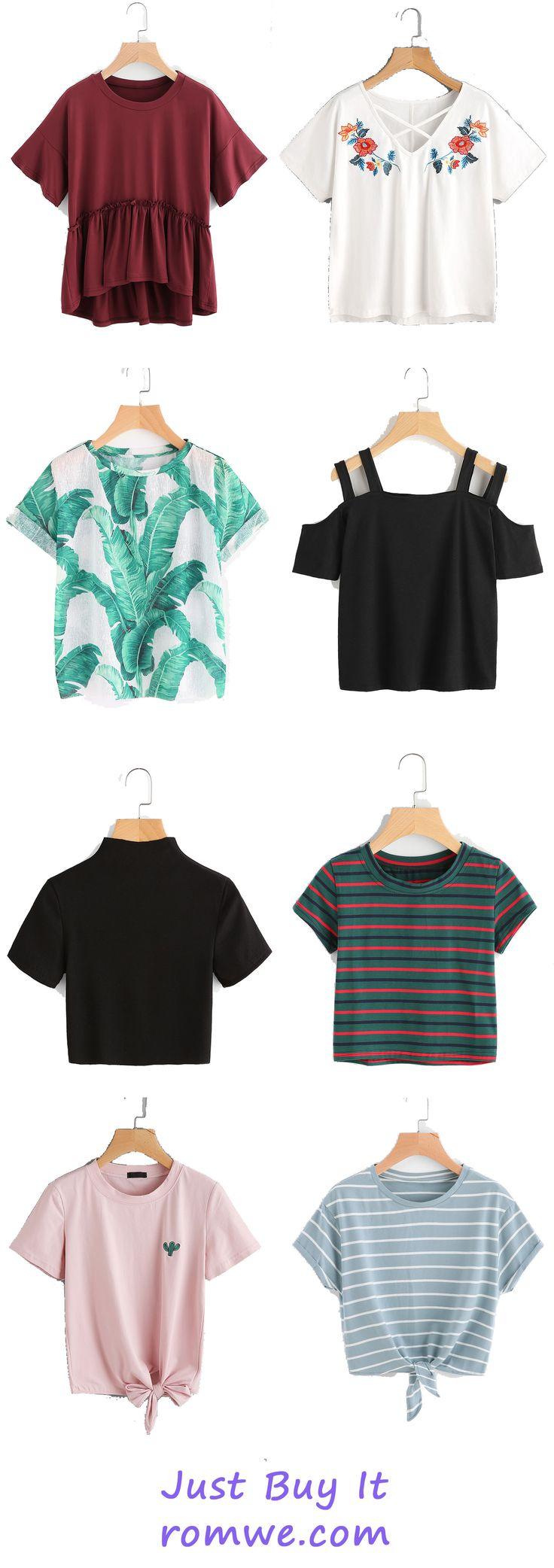Chic & Cozy T shirts 2017 - romwe.com