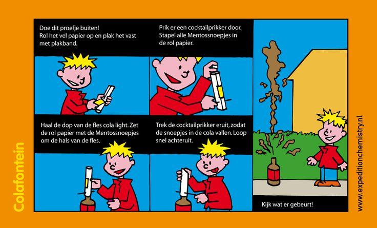 Proefje: Maak een fontein van cola met mentos.