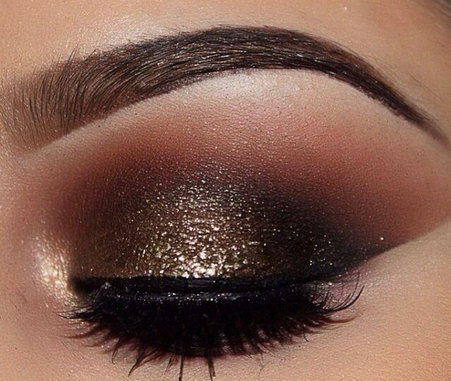 maquillajes de noche dorado - Buscar con Google
