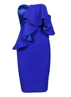 Charming Sweetheart One-Shoulder Zipper-up Ruffles Bodycon Short Party Dress