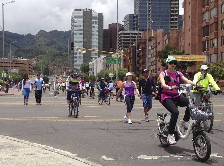 Every Sunday since the 1970s, Bogota shuts off its streets to traffic and opens them up to the people during an event called the ciclovia. More than one million bikers, pedestrians and roller bladers take over 60-plus miles of highway.  From 7 am to 2 pm, the city becomes a living gym.