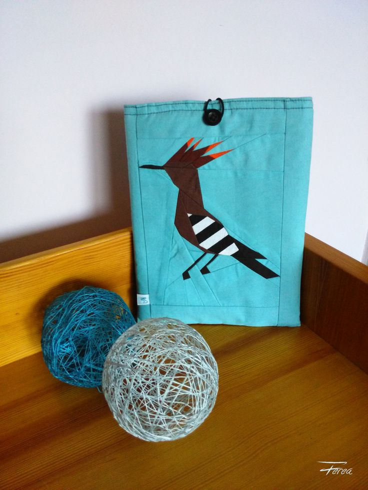 Hoopoe, fox iPad cover, turquoise tablet case, padded gadget sleeve, blue travel case by FereaDesign on Etsy