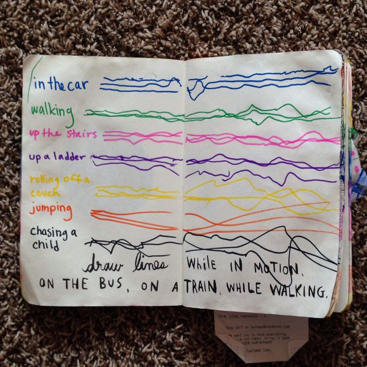 Wreck this Journal - draw lines while in motion