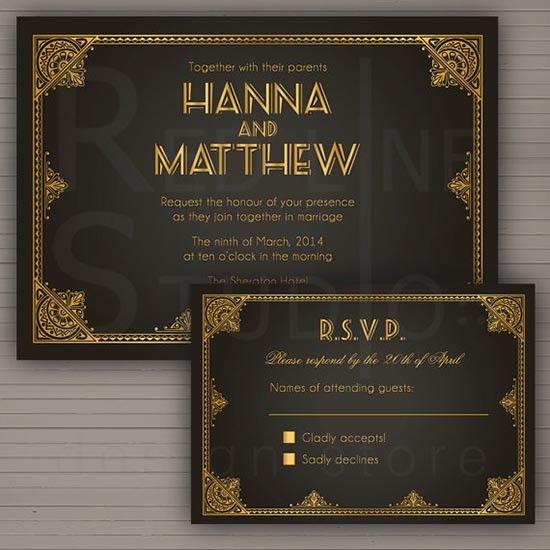 Partecipazioni vintage anni 20. Wedding vintage invitations. #wedding #vintage