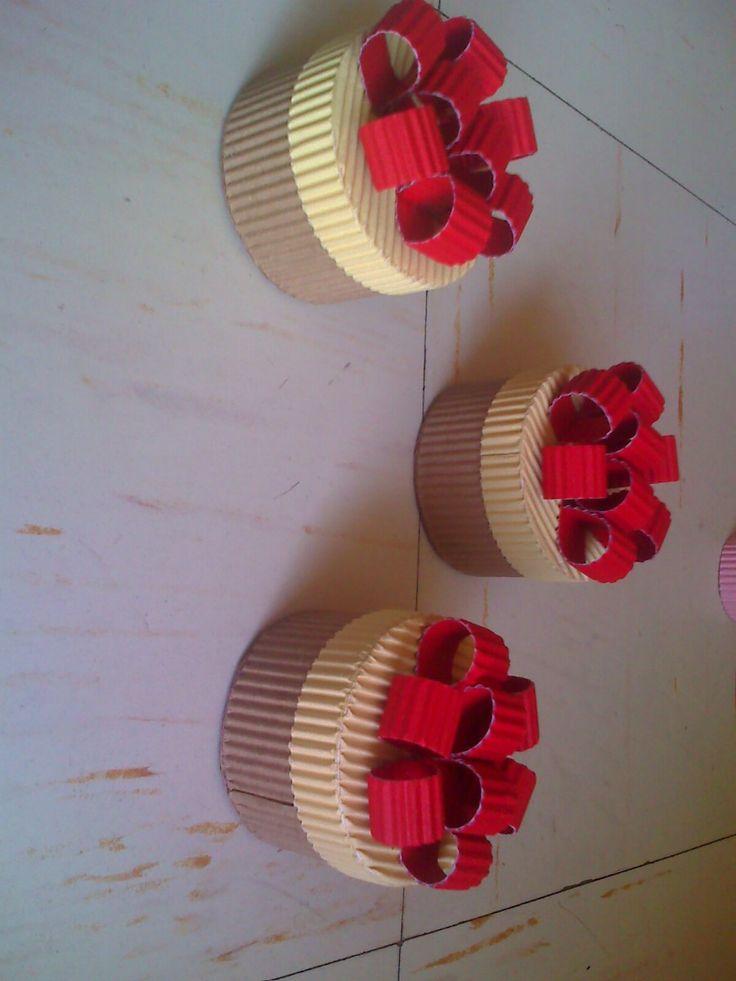 M s de 1000 ideas sobre cajas de papel corrugado en - Cajas para manualidades ...