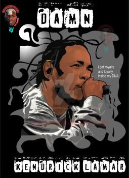 vector illustration of kendrick lamar with corel x7